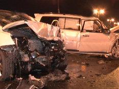 Bakıda iki avtomobil toqquşdu, 1 nəfər xəsarət aldı - FOTO