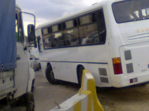 """Bakıda avtobus qəzaya uğradı, <span class=""""color_red"""">6 nəfər xəstəxanaya yerləşdirildi</span>"""