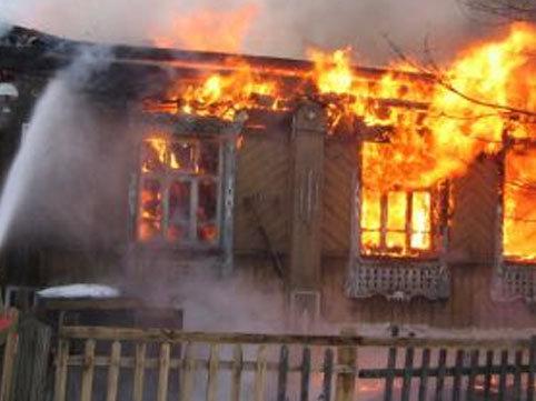 Bakıda 4 otaqlı ev tamam yandı