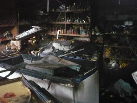 Qusarda mağaza yanıb