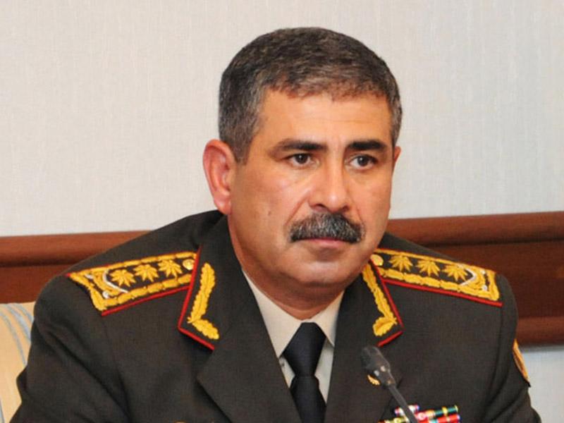 Azərbaycan Respublikasının Müdafiə naziri general-polkovnik Zakir Həsənov  Türkiyə tərəfinə başsağlığı verib